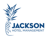 Jackson Hotel Management Company Logo featuring a pineapple and blue lettering reading Jackson Hotel Management
