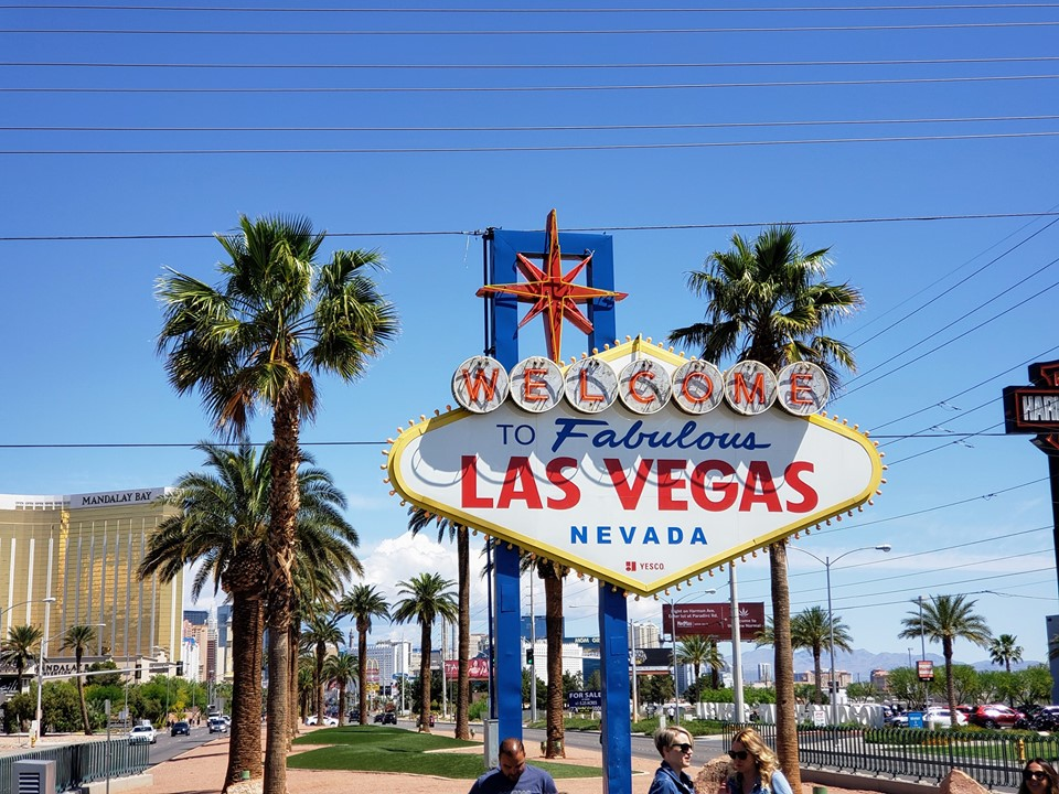 Picture of the Welcome to Fabulous Las Vegas Nevada sign taken by Jackson Hotel Management President Brent C Jackson
