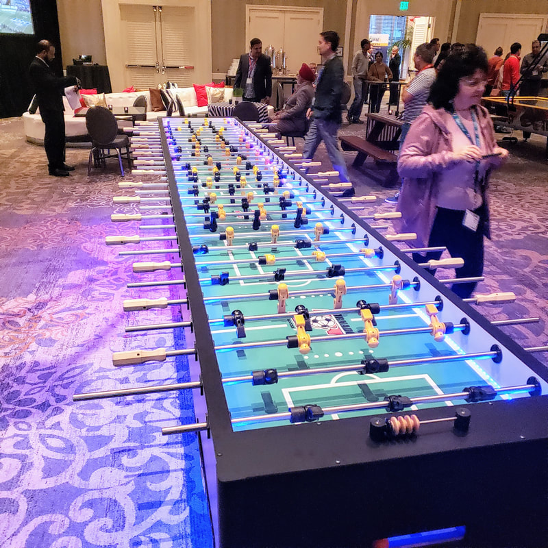 a very large foosball tables at the tailgate event